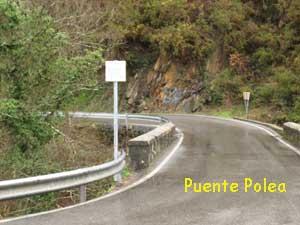 Puente Polea y, al fondo, curva difícil