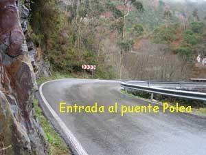Entrada difícil al puente Polea